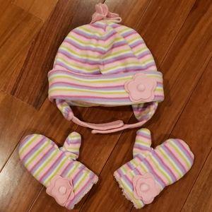 Girl hat and gloves set